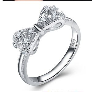 SOLD SOLD SOSterling Silver Gorgeous Bow Knot Ring